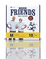 Friends Adult Diaper (Premium) - Medium (10 Count)