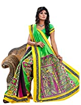 Vibes Women's Champa Bhagalpuri Saree with Blouse ( S30-5652_Multi-Coloured)