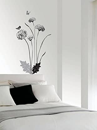 Vinilo Flores chrysentemes  Multicolores