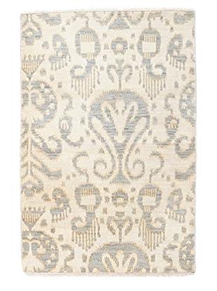 Darya Rugs Ikat Oriental Rug, Ivory, 2' 9