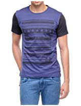 Yepme Men's Blue Cotton T-Shirt-YPMTEES0395_M