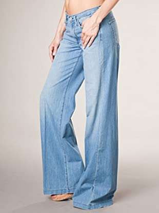 7 for all Mankind 4-Pocket The Trouser W Belt Wide Leg (Blau Denim)