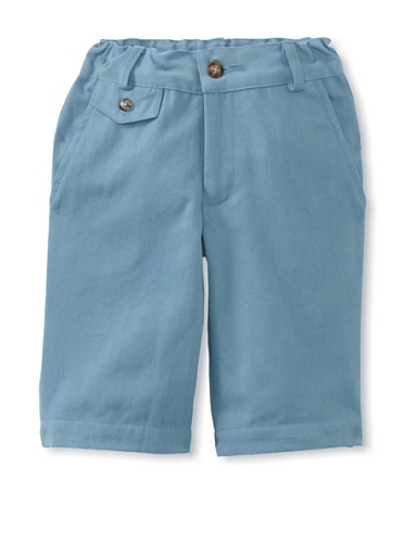 Peas and Queues Boy's Oliver Shorts (Blue)