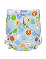 Baby Basic Diaper Single | Blue Crazy Circles Size , Toddler