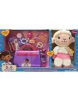 Disney Doc McStuffins Doctors 8-piece Bag Set with Animated Lambie