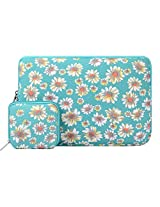 Laptop Sleeve, Mosiso Bohemian Style Canvas Fabric 15-15.6 Inch Laptop / Notebook Computer / MacBook / MacBook Air / MacBook Pro Sleeve Case Bag Cover (Internal Dimensions: 15.75 x 0.79 x 11.61 inches; Golden Aster)