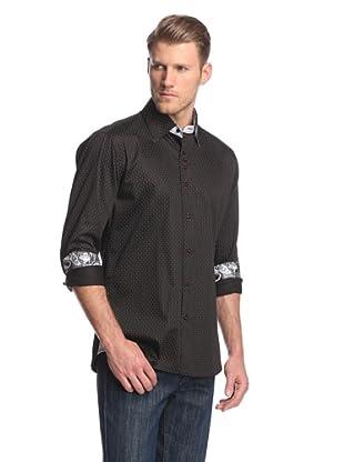 Cafe Bleu Men's Rebel Pindot Sportshirt (Black)