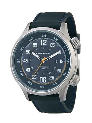 ARMAND BASI A1003G03 - Reloj de Caballero movimiento de cuarzo con correa de caucho Negra