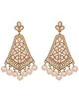 Touchstone antique gold plated charming earrings DGET-516-01P--G