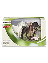 Schleich Fell Pony Family Scenery Pack