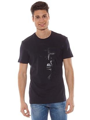 Gianfranco Ferré Camiseta Manga Corta Estampado Letras (Azul Marino)