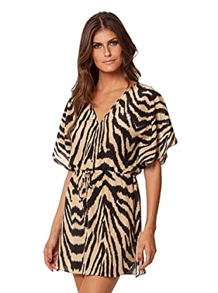 Vix Women's Cape Lily Dress (Black/Gold)
