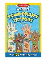 Blue: My First Temporary Tattoos - 100+ Kid-Friendly Tattoos + FREE Melissa & Doug Scratch Art Mini-
