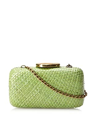KAYU Women's Ava Straw Agate Clutch (Green)