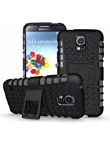 Jkase Ultra Fit Tough Rugged Dual Layer Protection Case with Build in Stand for Samsung Galaxy S5 - Black