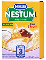 Nestle Nestum Baby Cereal Stage 3 Rice 3 Fruit Refill - 300 Gms