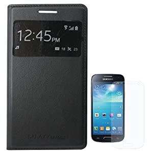 DMG Stitched Faux Leather Flip Cover S View Case for Samsung Galaxy Grand 2 G7102 + Matte Screen + Bonus DMG Wristband