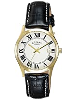 Rotary Analog White Dial Men's Watch-GS0272401
