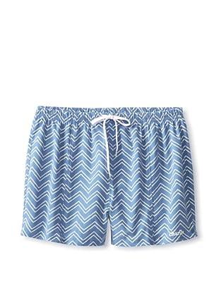 Charlie Men's Zag Soccer Swim Short (Medium blue)
