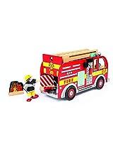Le Toy Van Wooden Fire Engine Set