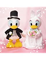 Bridal stuffed S Donald Duck & Daisy Duck