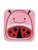 Skip Hop Zoo Divided Melamine Plate-Ladybug (Pink/Red)