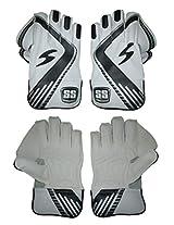 SS Dragon Wicket Keeping Gloves, Men's (White/Black)
