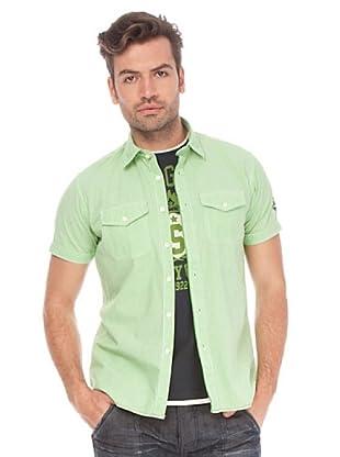Springfield Camisa (Verde / Blanco)