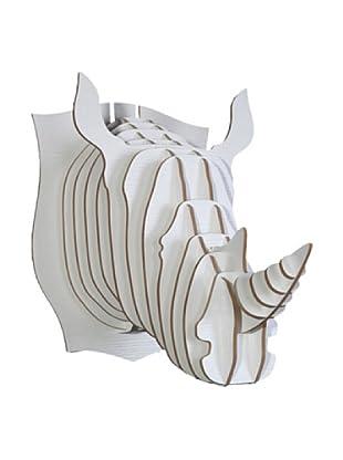 Eco Décor Laser-Cut Animal Trophy Rhinoceros Head, White
