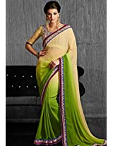 Cream Embroidered Sarees Bahubali