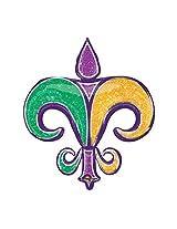 """38"""" Foil Balloon New Fleur De Lis Gold Purple Green Tri Color Party Mardi Gras New Orleans Saints Birthday Favors Gift Decor"""