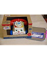 Fisher Price Classic Chatter Phone With Dry Erase Board For Drawing Pictures Or Taking Messages
