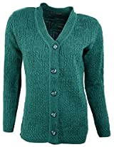 Casanova Women's Long Sleeve Cardigans (7004, Green, L)