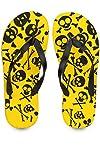 Skull Yellow Flip Flops