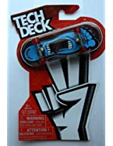 2013 Tech Deck Santa Cruz Toy Skateboard - Blue Foot with Mouth in Middle