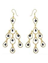 Silver Selection Glass Brass Stud Earrings for Women