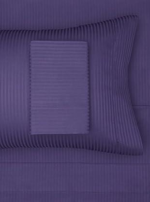 300 Thread Count Satin Stripe Sheet Set (Navy)