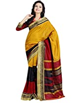VINAMRA SILK DESIGN SAREE COLLECTIONS-Multi-Coloured-VCS2454-VN-Crepe Synthetic-Multi-Coloured-VCS2454-VN-Crepe Synthetic