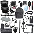 Canon EOS Rebel T3i 600D DSLR Camera Everything You Need Accessory Kit