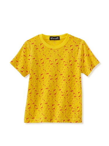 A for Apple Rat T-Shirt with Apple Peel Print (Yellow)