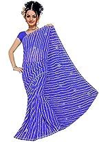Kala Sanskruti Chiffon And Art Silk Leheriya Design Saree With Work [KSA3XI-55_Blue]