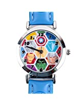 Avengers Heroes Assemble Kids Analog Watch - Light Blue