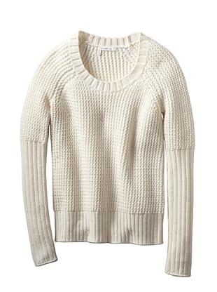 10 CROSBY Women's Honeycomb  Sweater (Soft White)