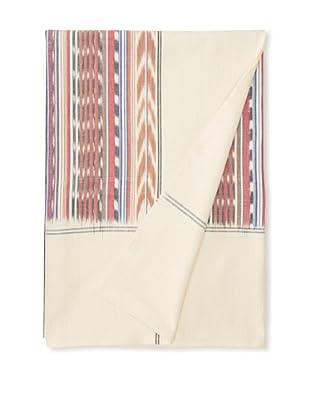 Nomadic Thread Society Single Ikat Bed Cover (Grey/Pink)