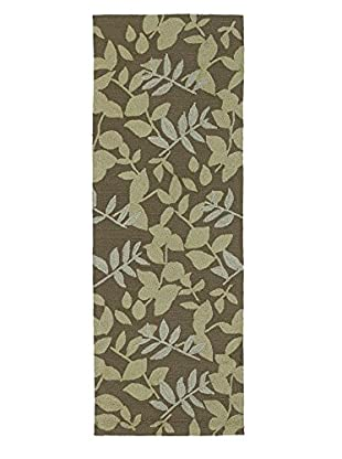 Kaleen Home & Porch Indoor/Outdoor Rug, Coffee, 2' x 6' Runner