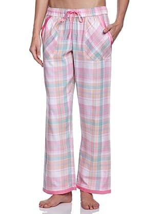 Cyberjammies Pantalón De Pijama Candy Floss Checks (Blanco / Rosa / Celeste)
