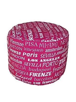 Unokids Pouf Cilindro rosa 40 x 40 x 40 cm