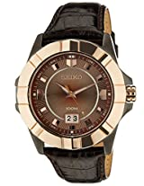 Seiko Lord Analog Brown Dial Men's Watch - SUR138P1