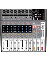 NX Audio POM800 Live Sound Mixer 8Ch 300w