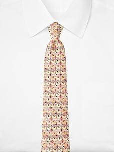 Emilio Pucci Men's Geometric Circle Tie, Pink/Orange